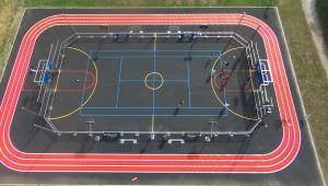 espace multisports city stade terrain multisports erdeven vue du ciel