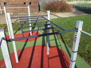 Echelle horizontale street workout